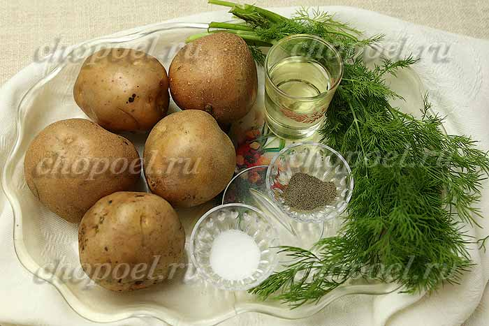 ингредиенты для жареной картошки