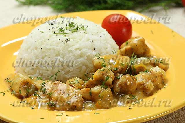 куриное филе в сливочном соусе рецепт